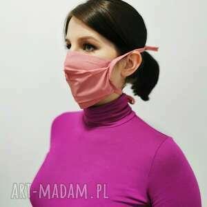 maseczki różowa maseczka ochronna bawełna