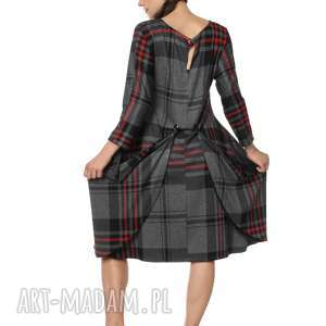 Sukienka z dzianiny podpinana oversize Scotty Square, jesień, zima, designerska