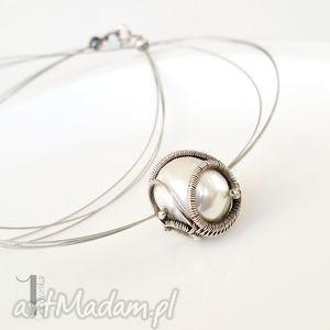bianco i - naszyjnik z perłą majorka - perła, delikatny, ślub