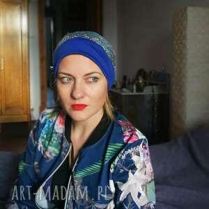 handmade czapki czapka damska patchworkowa wiosenna-box waliz - na podszewce, rozmiar