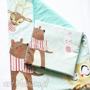 komplet zima 75x100 poduszka 50x50 cm - pokój, dziecko, minky, bawełna