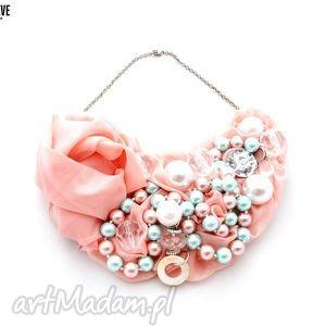 bubble gum naszyjnik handmade, naszyjnik, róż, różowy, pastele, kolorowy