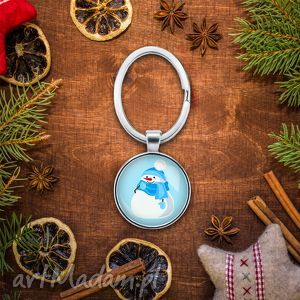 brelok do kluczy bałwanek, prezent, śnieg, mikołajki, klucze, choinka, grafika