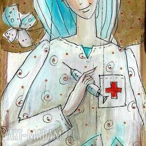 """Deseczka z sentencją - """"pielęgniarka to też lekarstwo"""" marina"""