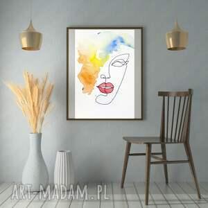 obraz - plakat myśli kolorowe 70 x 100 cm, dekoracja, wnętrze, dom, kobieta