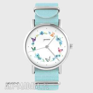 Prezent Zegarek, bransoletka - Kolorowy wianek - niebieski, nato,