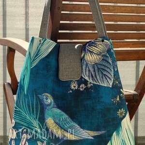 handmade na ramię torba / worek - koliber