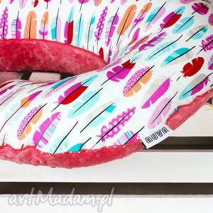 duża poduszka do karmienia - pióra - poduszka, rogal, karmienia, niemowlę
