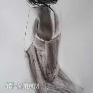 woman , duży-obraz, kobieta-obraz, grafika-kobieta, czarno-białe, na-pezent