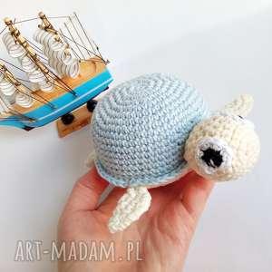 Żółwik z błękitnej skorupce, żółw, maskotka, zabawka, żółwik, przytulanka, ż&