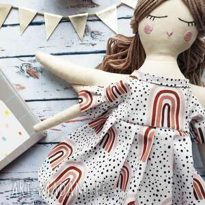 ręcznie robione lalki pani anioł prezent na chrzest mała