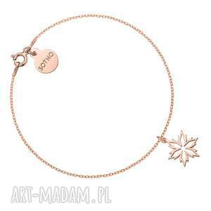pomysł na prezent pod choinkę Bransoletka ze śnieżynką z różowego złota, bransoletka