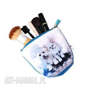 Kosmetyczka kotek i piesek, wodoodporna kot i obok, mała