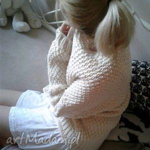 swetry śmietankowy kardigan , sweter, ecru, ubrania