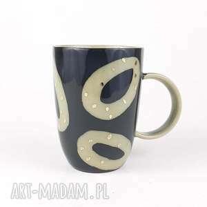 cerama kubeczek do kawy - czarne kubki, ręcznie malowany, ceramika artystyczna
