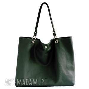 hand made na ramię torbiszcze zielone z wkładem