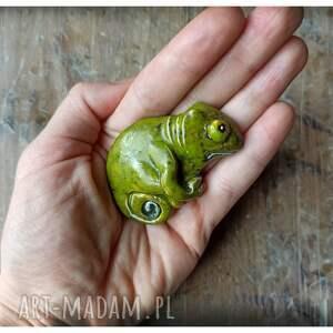 handmade broszki kameleonik broszka