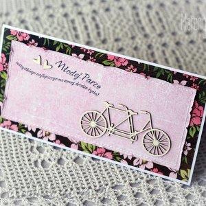 kartka z tandemem, tandem, gratulacje, unikalny prezent