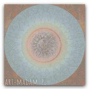 obraz na płótnie mandala terra 100 x100, mandala, z kołem, artystyczne, mandale