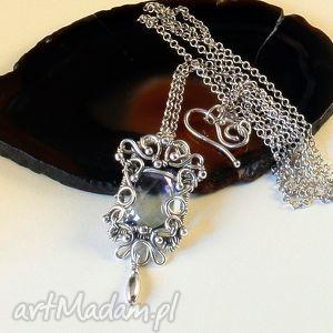 naszyjniki heavenly soul, wisior, naszyjnik, srebro, wirewrapping, topaz biżuteria