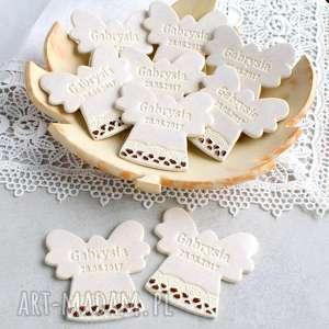 aniołki w podziękowaniu, podziękowania, dziecko, chrzest, urodziny, aniołek, magnes