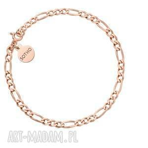 bransoletka łańcuchowa z różowego złota - łańcuszek