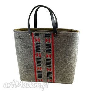 torebki torba na laptopa -indian summer, filc, skóra, haft, laptop