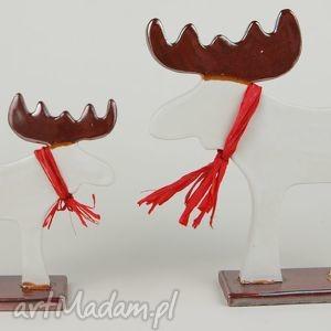 Łoś świąteczny - ,zwierzęta,ceramika,figurki,święta,łoś,
