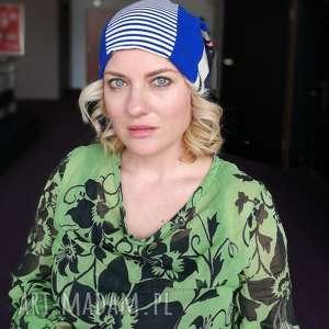 czapka patchworkowa damska kolorowa energetyczna wiosenna - wiosna, czapka, etno, boho