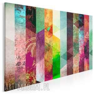 vaku dsgn obraz na płótnie - kolorowe paski 120x80 cm 25801, paski, wzory