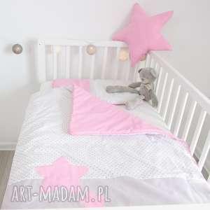 pościel do łóżeczka słodkie sny róż, dla-dziewczynki, kołderka, gwiazdki, gwiazdy