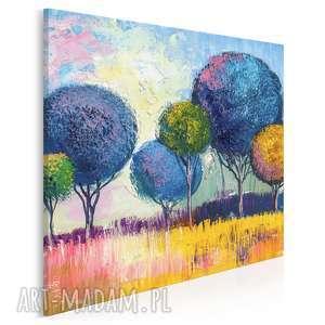 obraz na płótnie - drzewa natura w kwadracie 80x80 cm 79602