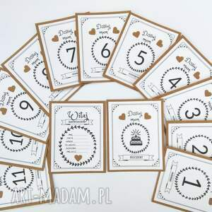 Prezent Karty do zdjęć MÓJ PIERWSZY ROK ŻYCIA - eko, karty, dziecko, prezent
