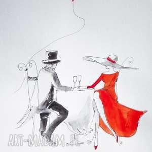 PODAJ MI SWOJĄ DŁOŃ praca akwarelą i piórkiem artystki Adriany Laube, akwarela
