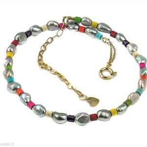 zgustem perła i howlit, naszyjnik z perłami, perły naturalne, kolorowe
