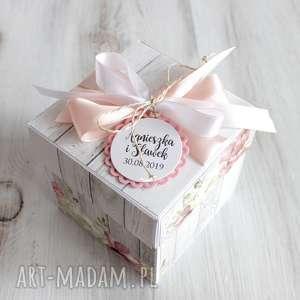 pudełko - kartka z życzeniami - prezent na ślub - prezent dla nowożeńców