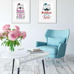 Plakaty dla babci i dziadka fajnymotyw dziadek, babcia, prezent