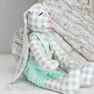 królik przytulanka z imieniem personalizacja - królik, przytulanka, urodziny