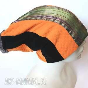 czapka patchworkowa damska na podszewce rozm uniwersalny, polecam box r1