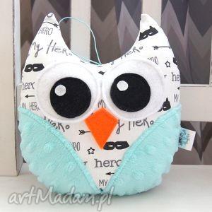 handmade prezenty na święta mini sowa - przytulanka maskotka