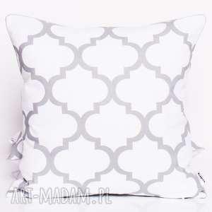 poduszki poduszka fresh grey-white 50x50cm od majunto, koniczyna, koniczyna