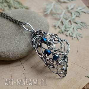 Magic wing - naszyjnik z pięknymi kryształkami, naszyjnik-z-miedzi