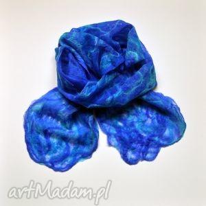 ręczne wykonanie szaliki szal wełniany ręcznie filcowany n