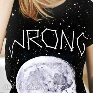 stylowa koszulka top t-shirt z modnym nadrukiem full print 3d, modny styl, fajny