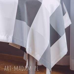 obrus kwadratowy adela czarno-biały, obrus, krata, kratka, serweta, wodoodporny