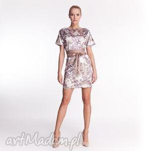 alice - sukienka - moda, wiosna, lato, kwiaty, satyna