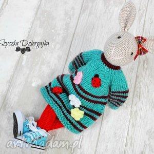 hand-made lalki szydełkowy króliczek przytulanka
