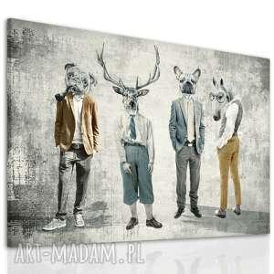 obraz drukowany na płótnie gang, chłopaki w formacie 120x80cm 02352, jeleń