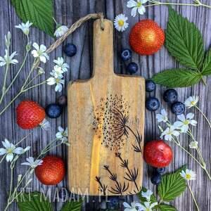 ręcznie robione podkładki deska, drewniana podstawka, rustykalna dekoracja