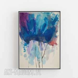 Abstrakcja-akwarela formatu 18 24 cm paulina lebida abstrakcja